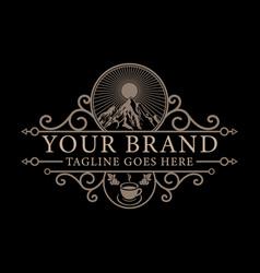 coffee shop template logo design vector image