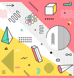 color pattern with geometric graphic elements vector image