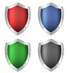 color shields vector image