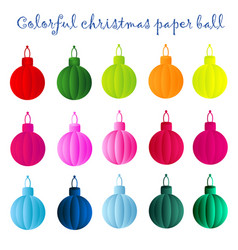colorful christmas paper ball vector image