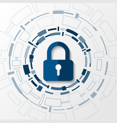cyber technology security network protection vector image