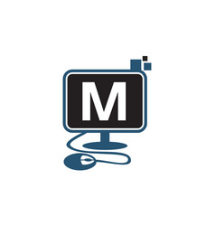 Digital technology initial m vector