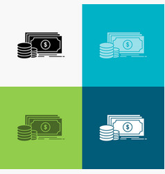finance investment payment money dollar icon over vector image