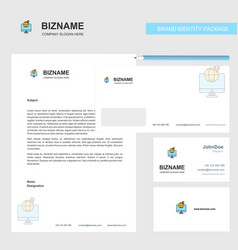 find location business letterhead envelope and vector image