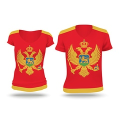 Flag shirt design of Montenegro vector image