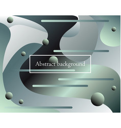 futuristic background with fluid abstract elements vector image