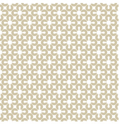 golden geometric seamless pattern white and gold vector image