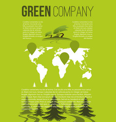 green company brochure template vector image