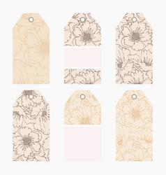 hand drawn creative tags vector image