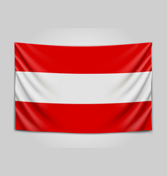 hanging flag of austria republic of austria vector image