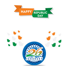 Happy independence day india poster design vector