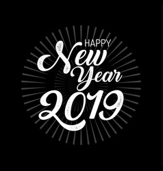 happy new year 2019 merry christmas vector image