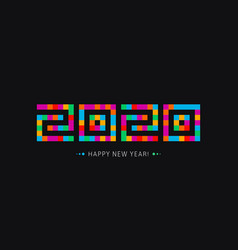 happy new year icon 2020 year logo modern vector image