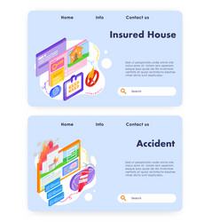 house safety and home insurance security vector image
