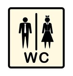 icon denoting man and woman symbol vector image