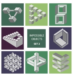 Impossible objects Set 2 vector image