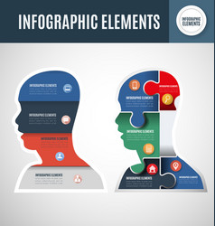 infographic template head vector image