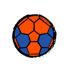 Isolated soccer ball icon vector
