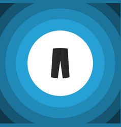 Isolated trousers flat icon pants element vector