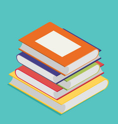 isometric book icon in flat design style vector image vector image