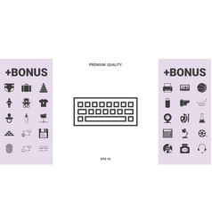 keyboard icon symbol - graphic elements for your vector image