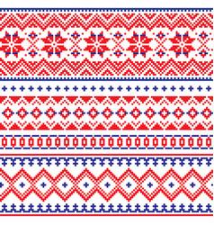Lapland seamless winter pattern sami vector