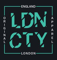 ldn cty t-shirt print vector image