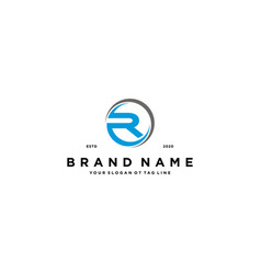 Letter r logo design vector