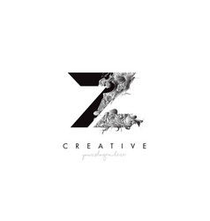 Letter z logo design icon with artistic grunge vector