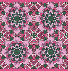 mandala oriental ornament relaxing doodle vector image