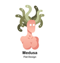Medusa flat icon vector