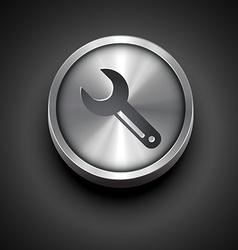 Metallic setting icon vector