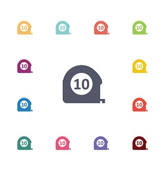 Metre flat icons set vector