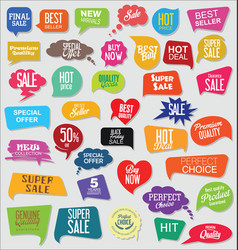 modern sale banners and labels collection 03 vector image