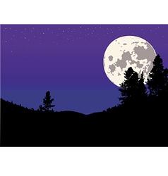 night moon background vector image