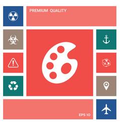 palette for paints elements for your design vector image