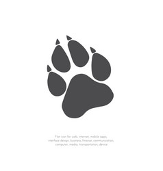 Paw prints logo 11 vector