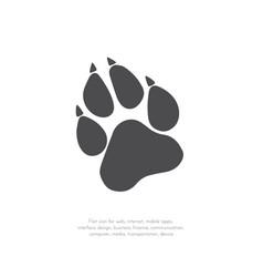 paw prints logo 11 vector image