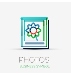 Photo gallery icon company logo business concept vector
