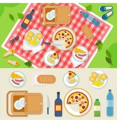 Picnic in park vector image