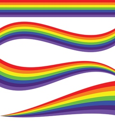 rainbow line vector image