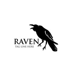 Raven logo icon design vector