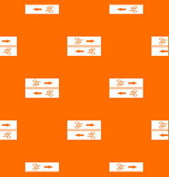Road for cyclists pattern seamless vector
