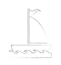 sailboat ship symbol vector image