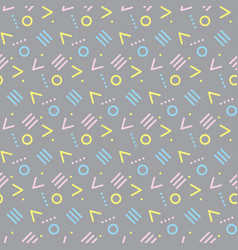 Seamless primitive geometric patterns vector