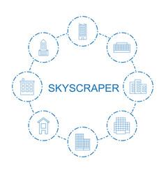 Skyscraper icons vector