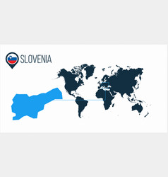 Slovenia location on the world map for vector