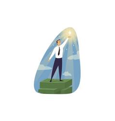 Success goal achievement career investment vector