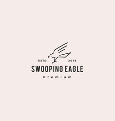 swooping eagle logo doodle icon vector image