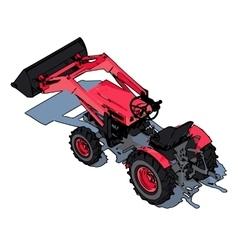 Tractor icon design eps10 vector image